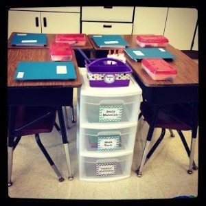 study stations in the classroom